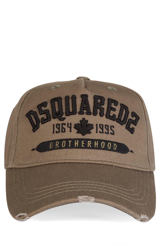 850b8a65 Dsquared Brotherhood Embroidered Khaki Cap