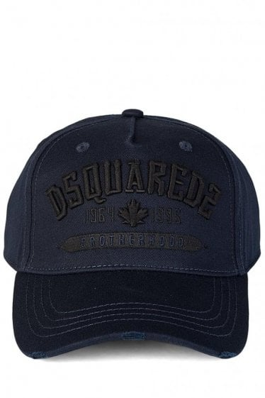 Dsquared Brotherhood Embroidered Navy Cap