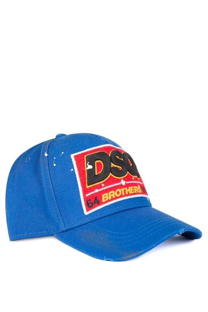 DSQUARED Brothers Baseball Cap Blue