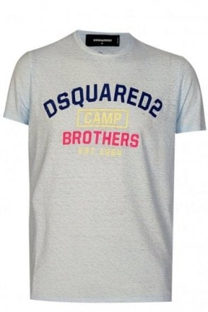Dsquared 'Brothers' Tshirt Blue