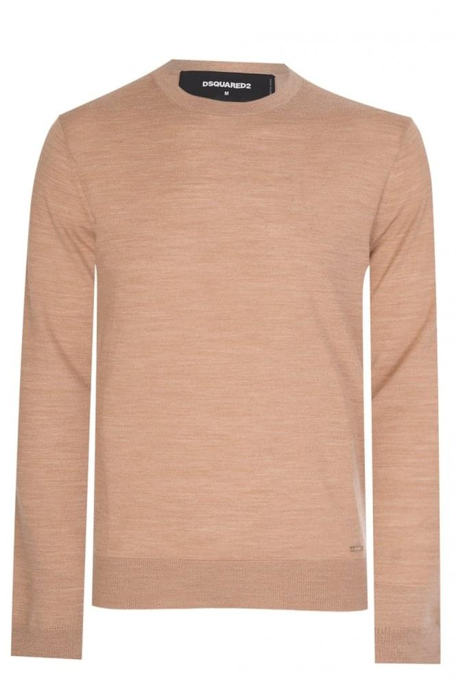 DSQUARED Camal Knit Jumper