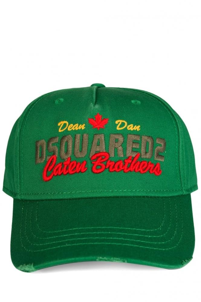 DSQUARED Catan Brothers Green Cap