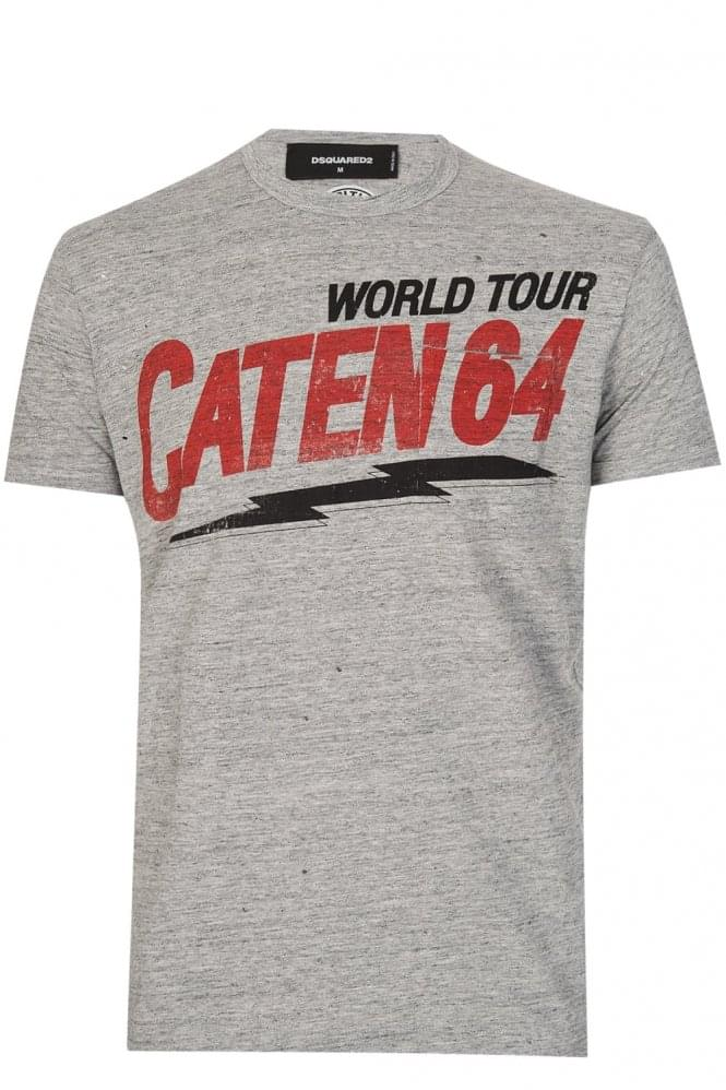 DSQUARED2 Dsquared Caten 64 T-Shirt Grey