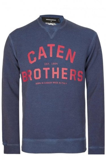 Dsquared Caten Brothers Sweatshirt Navy