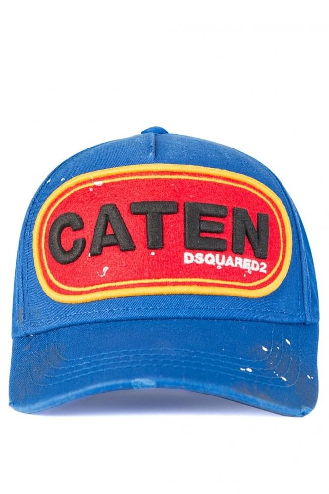 e535b5209e23a Dsquared Caten Patch Baseball Cap Blue
