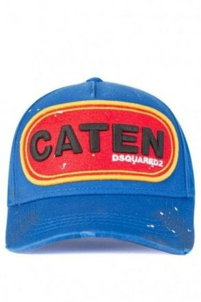 Dsquared Caten Patch Baseball Cap Blue