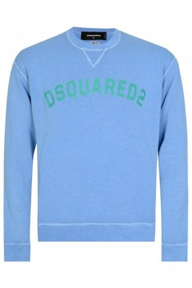 Dsquared Chest Logo Sweatshirt Blue