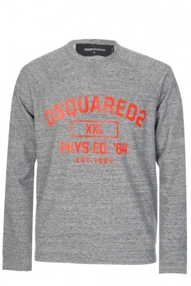 Dsquared Chest Print Sweatshirt Grey