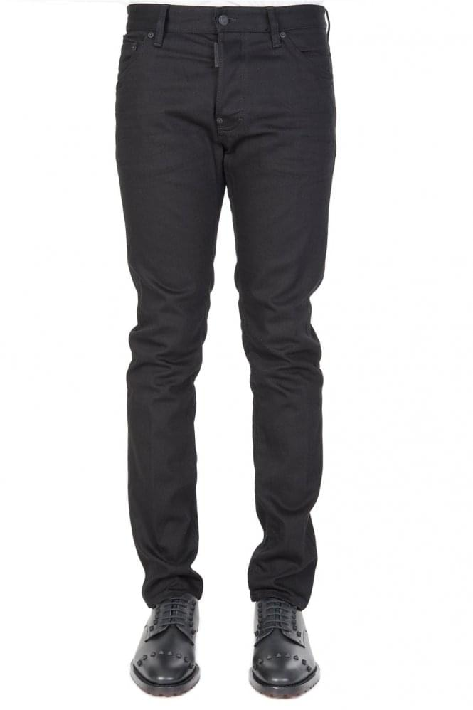 Short Sleeve Dsquared Cool Guy Cotton Jeans Black