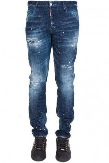 Dsquared Cool Guy Denim Distressed Blue