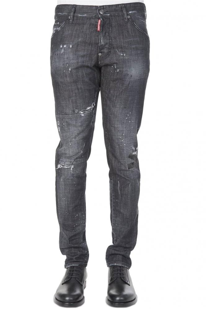 DSQUARED Cool Guy Distresed Tape Jeans