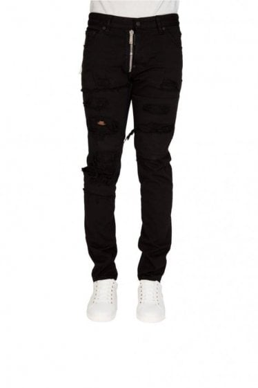 Dsquared Cool Guy External Zip Jeans Black