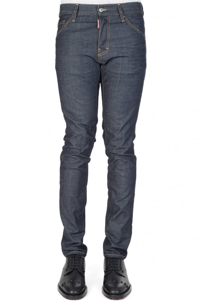 Short Sleeve Dsquared Cool Guy Jeans Blue