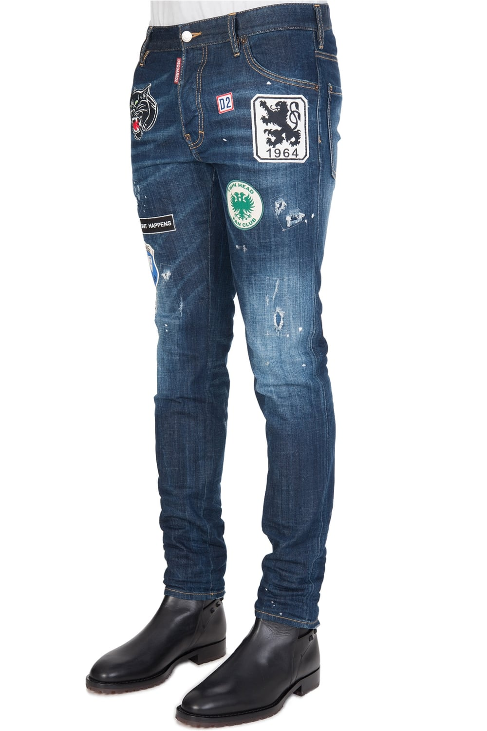 Dsquared Cool Guy Patch Jeans Blue