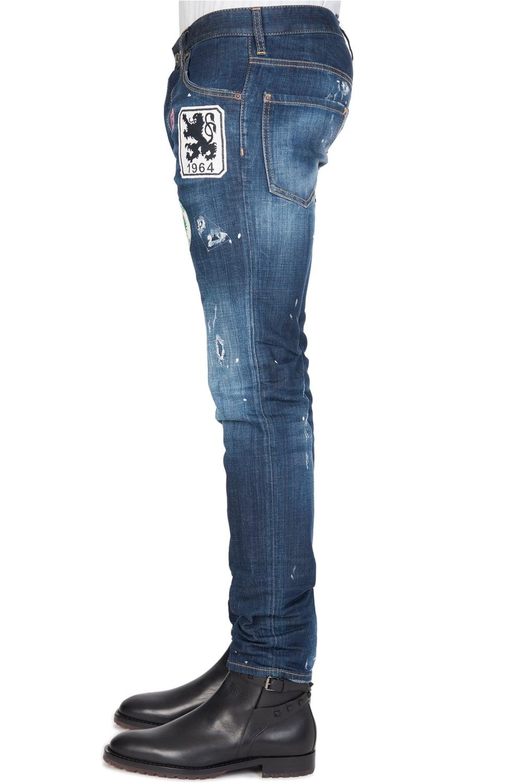 dsquared cool guy patch jeans blue. Black Bedroom Furniture Sets. Home Design Ideas