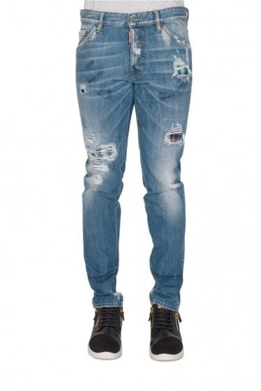 Dsquared Cool Guy Tartan Patch Jeans