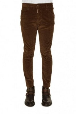 Dsquared Cord Skater Jeans Brown