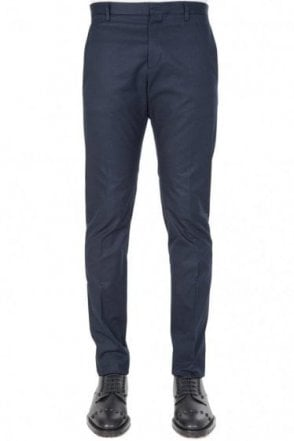 Dsquared Cotton Twill Tidy Fit Chinos Navy