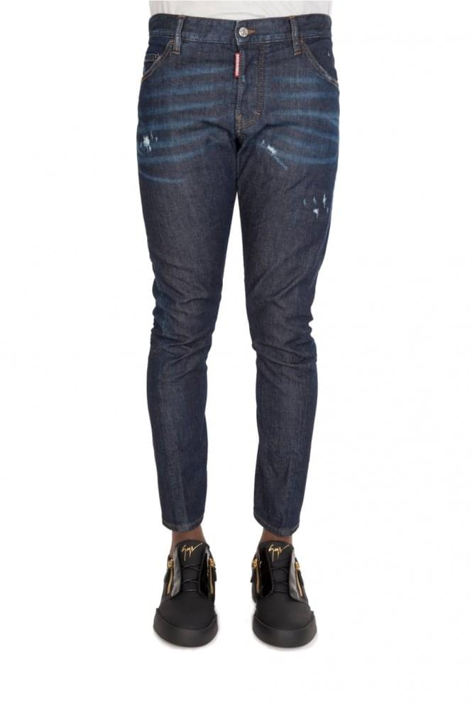 DSQUARED Deep Denim Sexy Twist Jeans Blue