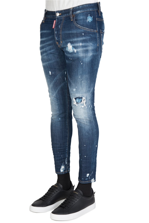 2ecf3d67 Dsquared Distressed Skater Jeans Blue