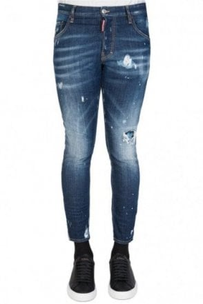 Dsquared Distressed Skater Jeans Blue