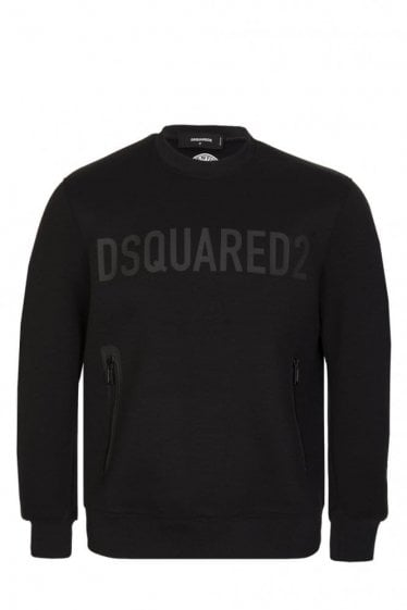 Dsquared Double Zip Sweatshirt Black