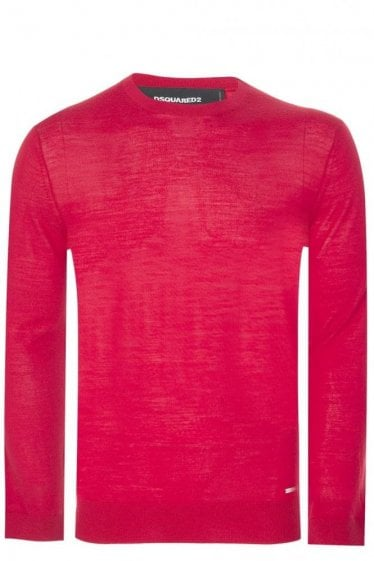 Dsquared Fine Gauge Crew Neck Knitted Jumper Red