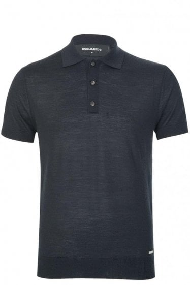 Dsquared Fine Gauge Polo Black