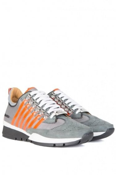Dsquared Five Stripe Mesh Sneakers Grey
