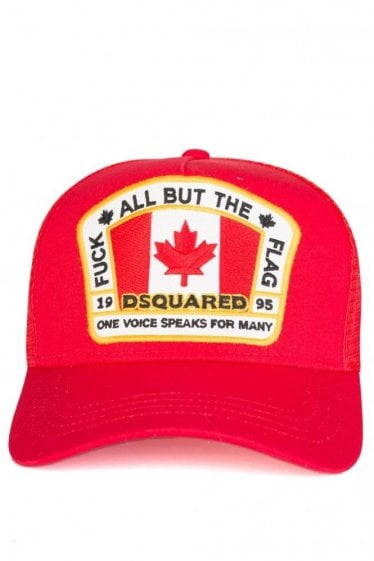 Dsquared Flag Baseball Cap Red