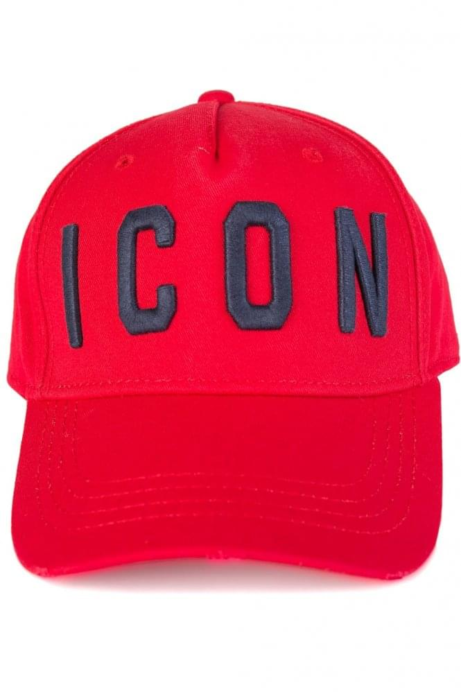DSQUARED Icon Baseball Cap Red