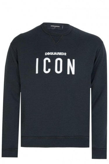 Dsquared Icon Print Sweatshirt Black