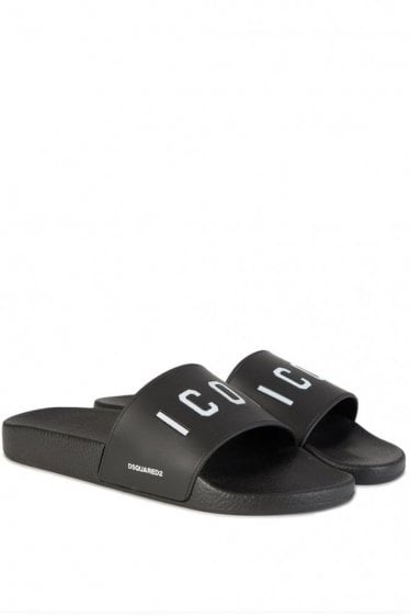 Dsquared Icon Sliders Black