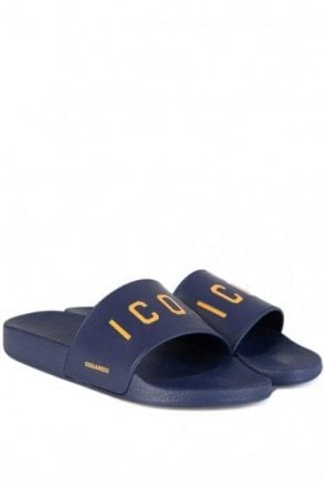 Dsquared Icon Sliders Blue