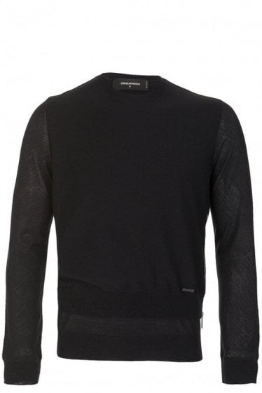 Dsquared Layered Hem Side Zip Sweater