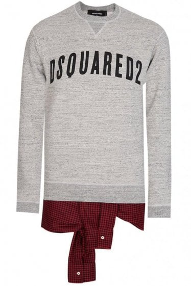 Dsquared Layered Sweatshirt Grey