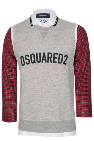 Dsquared Layered Up Sweatshirt