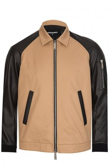 Dsquared Leather Mix Jacket
