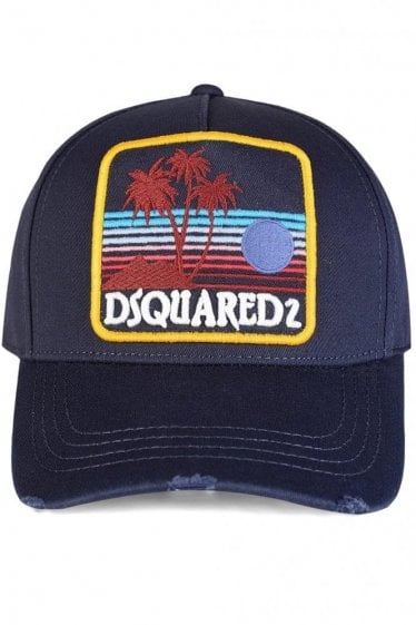 Dsquared Logo Patch Baseball Cap