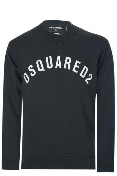 Dsquared Logo Print Sweatshirt Black