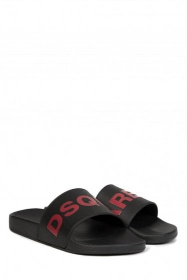 Dsquared Logo Sliders Black