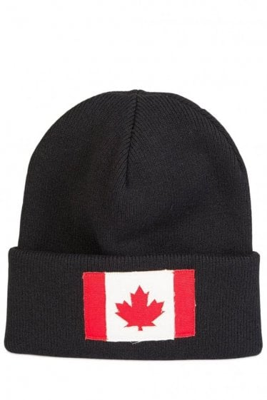 Dsquared Maple Leaf Beanie Black