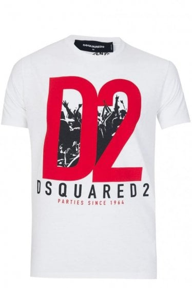 Dsquared Military Glam D2 Cotton Jersey T-shirt