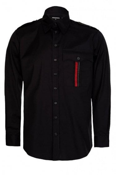 Dsquared Military Shirt Black