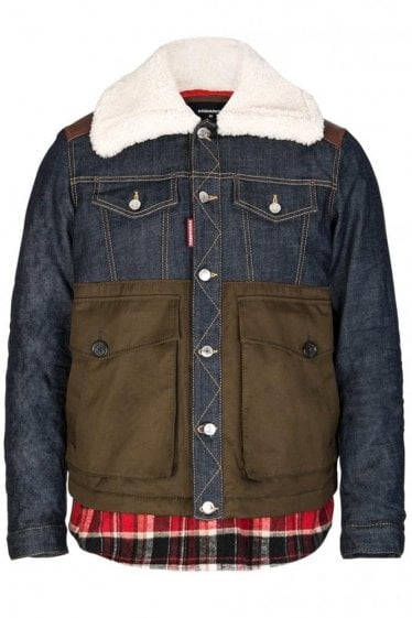 Dsquared Mixed Fabric Bomber
