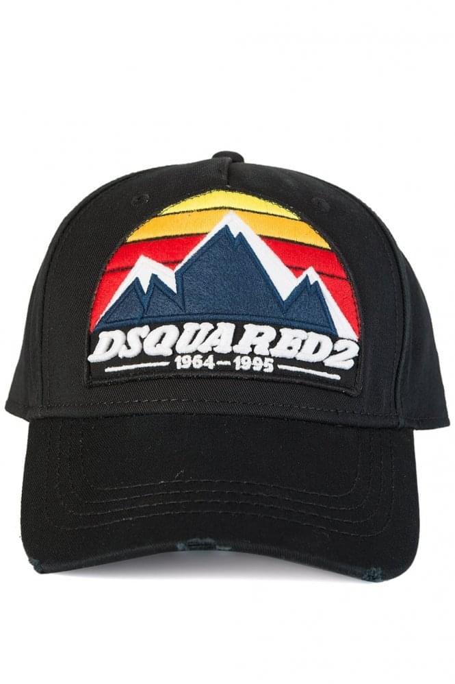 Dsquared Mountain Print Baseball Cap Black