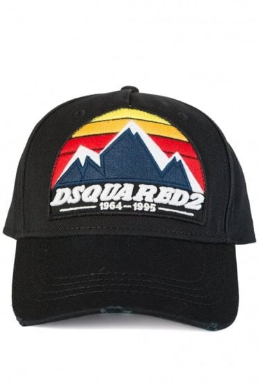 Dsquared Mountain Print Baseball Cap Black