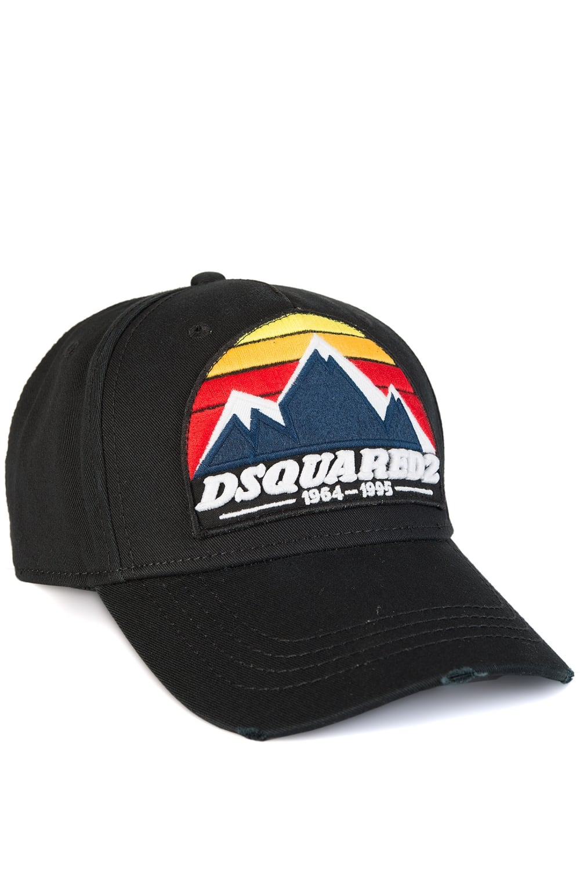 a7a960cbe4a244 Dsquared Mountain Print Baseball Cap Black