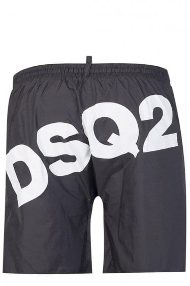 Dsquared Nylon Back Logo Swim Shorts Black