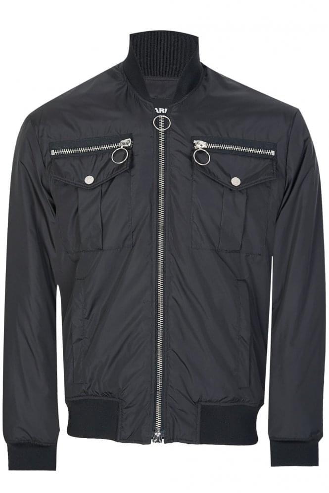 dsquared-nylon-bomber-jacket-black